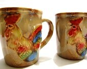 His/ Hers Set of 4 Rooster/ Hen Mugs