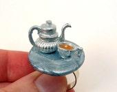 Adjustable Ring Kawaii Teapot