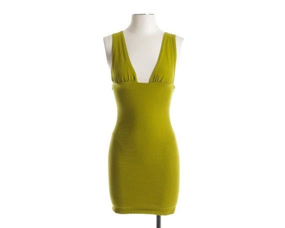 Vintage 80s 90s Dress - Body Con Mini Bandage Dress - XS / S