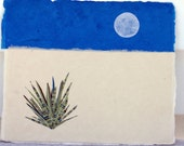 White Sands, New Mexico -  RESERVED FOR LEAH, original collage, vacation, southwest, desert, blue sky, yucca, simple