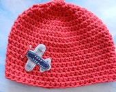 Infant Red Airplane Hat, Custom, Free Shipping