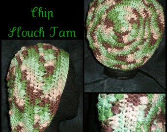 Mint Chocolate Chip Crochet Dreadlock Tam (Rasta, Slouch Hat, Cap) - Ready to Ship