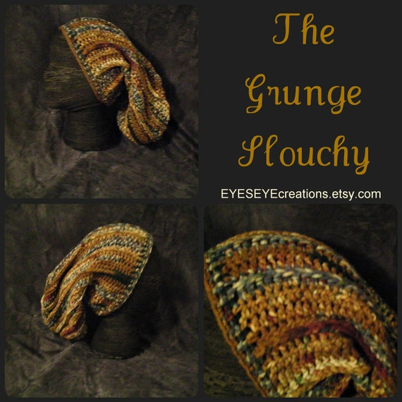 slouchy, slouchie, grunge, colorful, natural, dreadlock, long hair - THE GRUNGE SLOUCHY