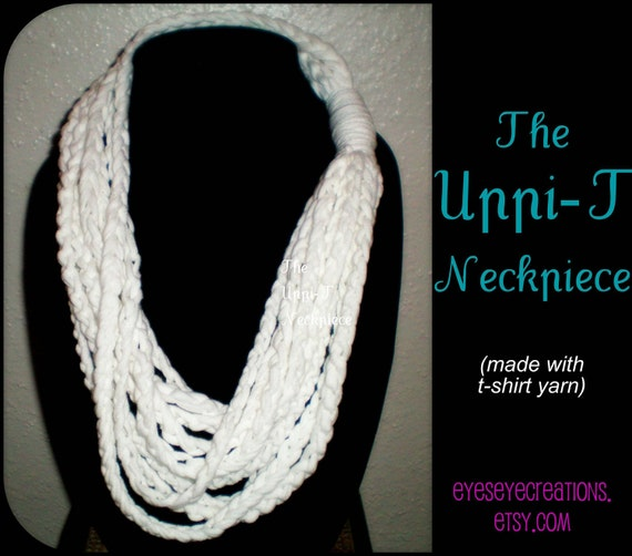 upcyclced t-shirt yarn necklace scarf warmer - The UPPI-T NECK PIECE