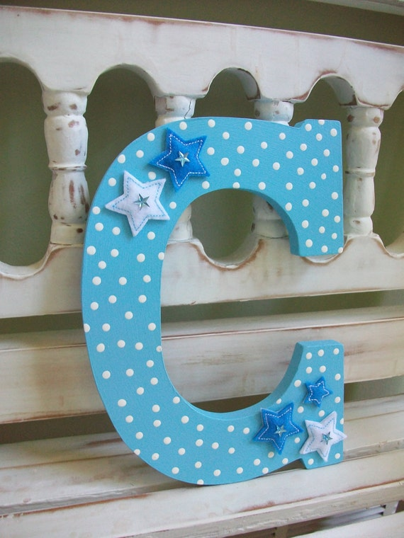 letter c wall decor baby boy letter c wall decor nursery initial alphabet blue 22784 | il 570xN.302611950