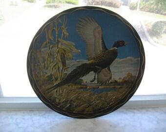 Vintage James L Artig Wildlife Artwork Tray (Pheasant)