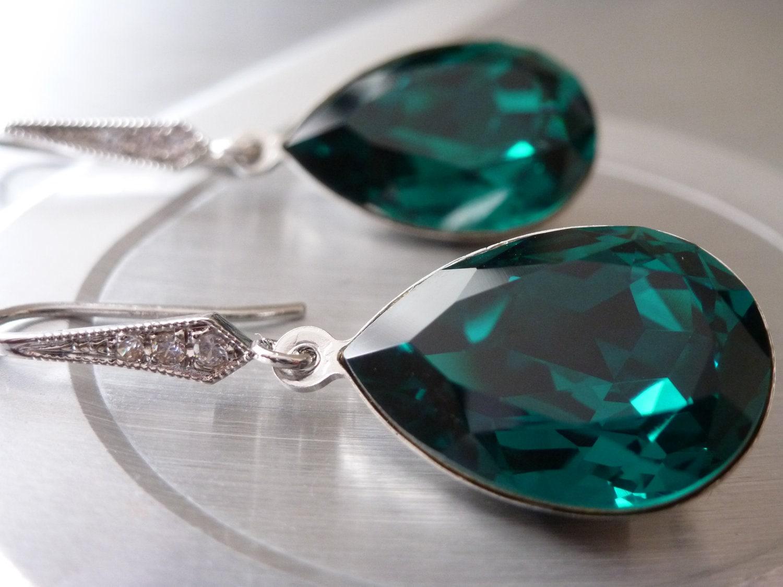 Earrings Wedding Bridesmaid Swarovski 🔎zoom