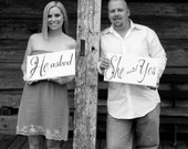 Engagement Photo Props - He asked - She said Yes (click on shop name to see other avail. items)