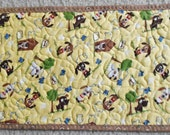 Adorable Dogs on Yellow Background Placemat