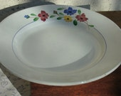 Fabulous Large 12 Inch Digoin Sarreguemines Serving Plate with Pretty Flowers