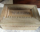 Very Pretty French Wooden Box with Six Compartments
