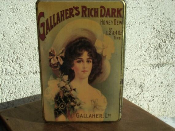 Pretty Vintage French Sugar Tin