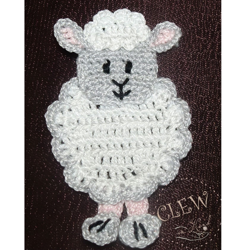 Free Crochet Pattern Farm Animals : Crochetpedia: 2D Crochet Farm Animal Applique Patterns