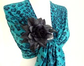 mothers day,spring trends, pashmina fabric,fantasy leopard shawl, scarf ,stylish fashion,2012,gift,  winter trends,broch,