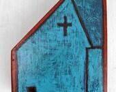 Folk Church Painting on Wood