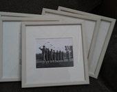 Black & white women golfer print, framed