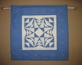Winter Snowflake Quilted Wall Hanging blue white