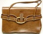 Stuart Weitzman Shoulder Bag Brown Leather Spain Mint