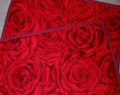 Beautiful Dense Red Rose Placemats