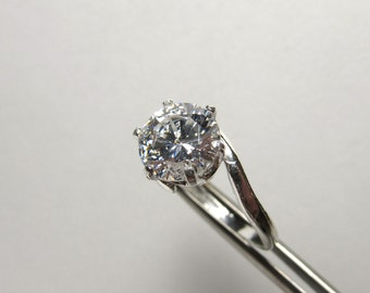 Incredible Crystal CZ in Sterling Silver Ring Size 7
