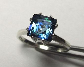 "Fabulous ""Neptune Garden"" Genuine Topaz in Sterling Silver Ring"