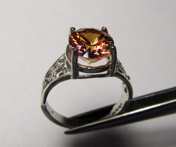 RESERVED FoR DEB   Genuine Twilight Topaz in Sterling Silver Ring Size 6