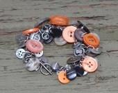 Vintage button bracelet - Muriel