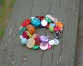 Vintage button bracelet - Estelle
