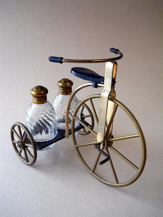 Vintage Tricycle Salt and Pepper Set