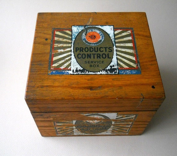 Vintage Wooden General Mills Products Control Box, 1940