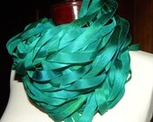 South Pacific - 70-80 yards of hand painted silk ribbon