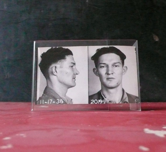 Reserved for MARY Original vintage black and white mugshot. Dated 11-17-38.