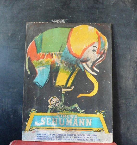 Original Vintage Schumann Circus Poster by Erik Stockmarr. Denmark 1960.