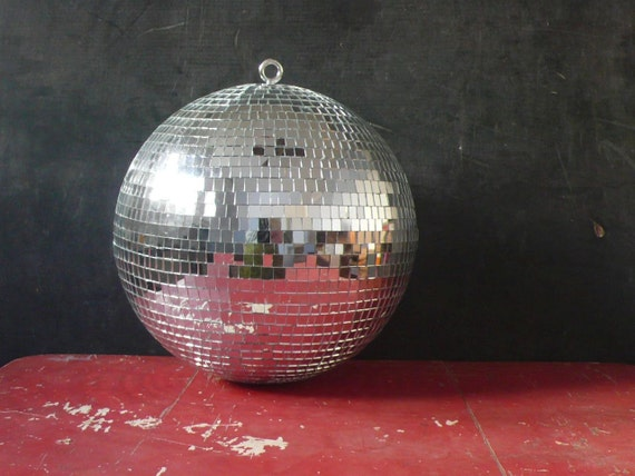 Vintage 70s disco mirror ball. Great size.
