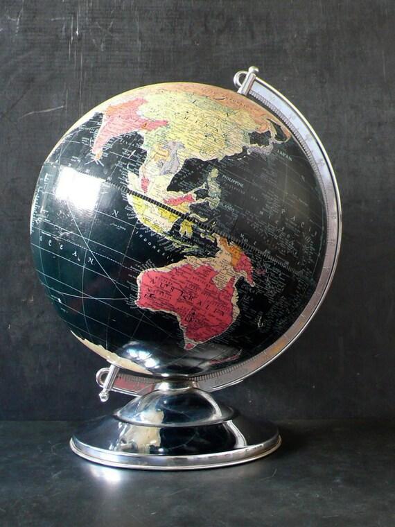 "1950s Black Replogle 12"" Starlight Globe"
