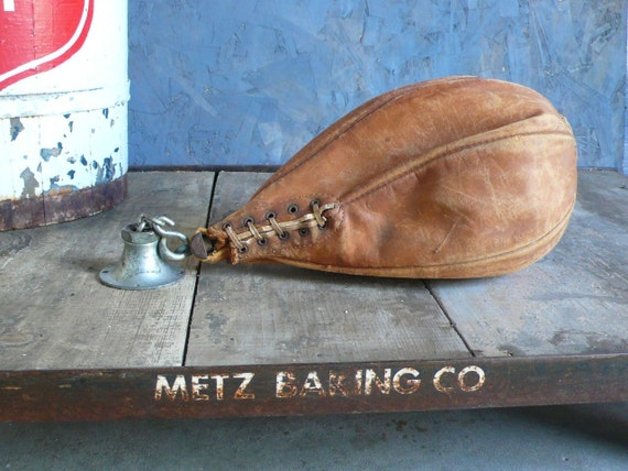 Antique leather boxing speed bag