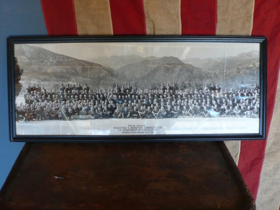 Framed Original Panoramic Group Photograph. U.S. Department of Agriculture. 1947.