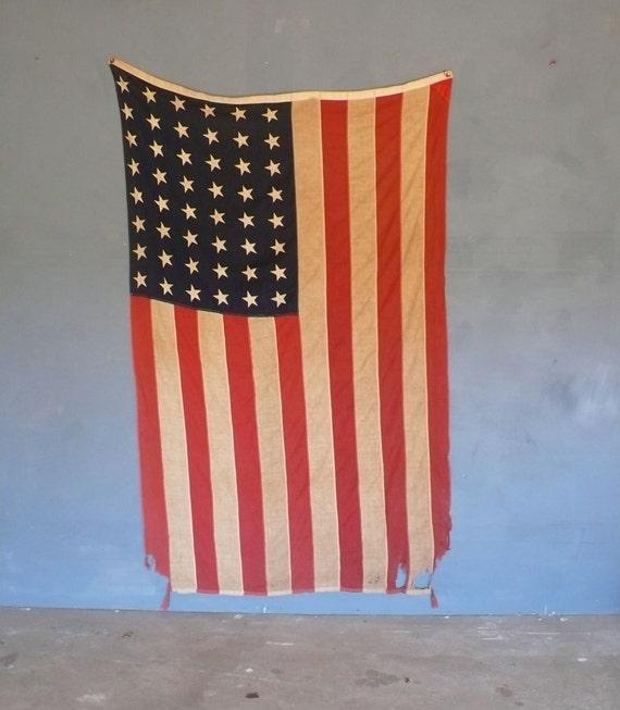 "Large 48 star flag 4' 9"" x 7"