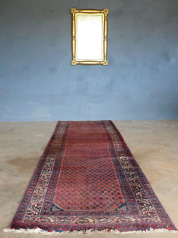 Antique Persian Lilihan Rug - Runner. c1930s.