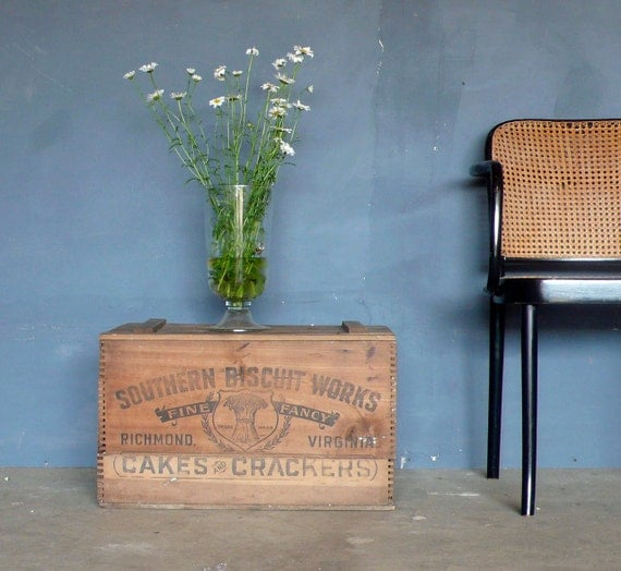 Antique Wood Crate/Box. Southern Biscuit Works,Richmond Va.