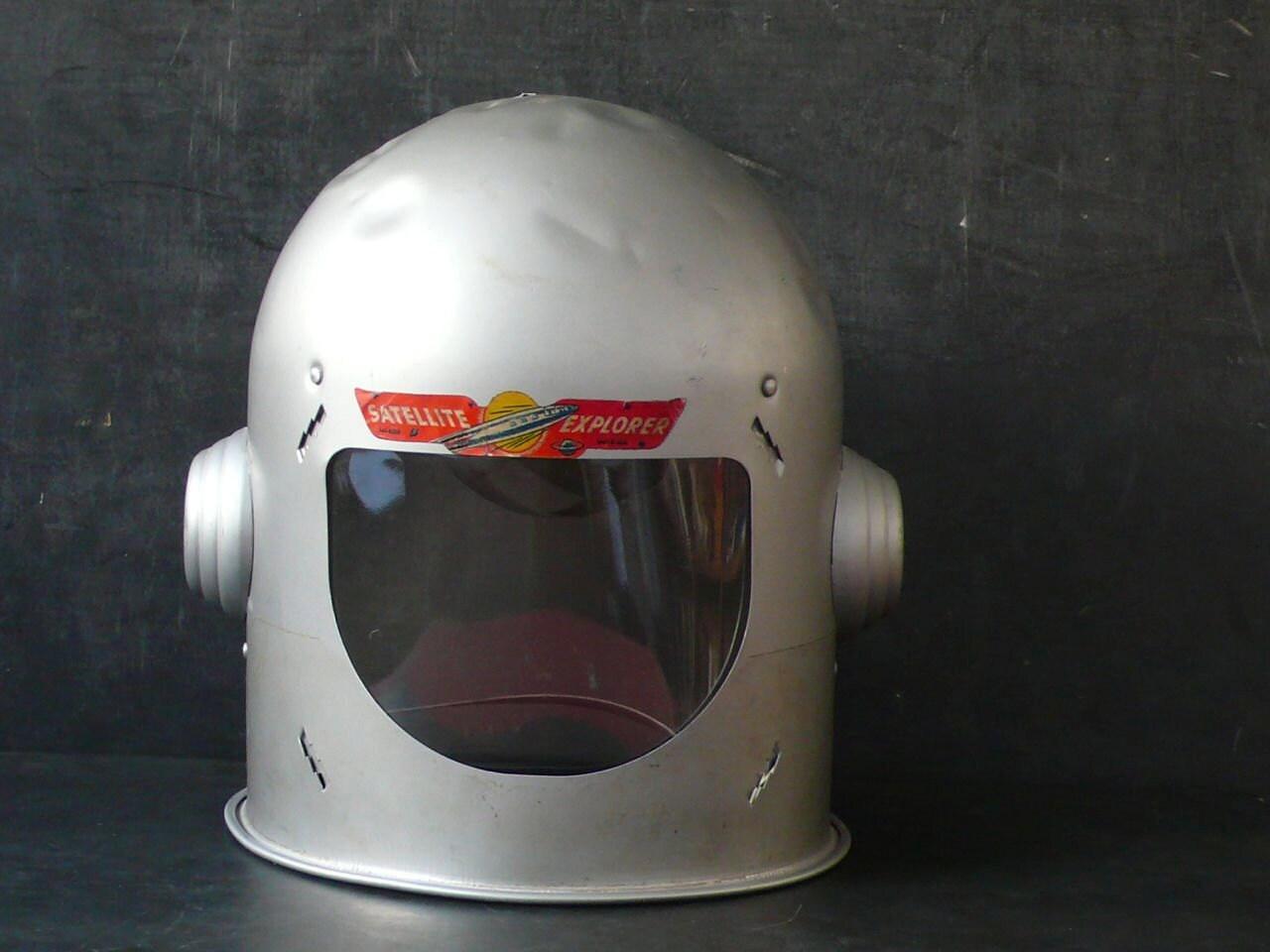 1950's Mirro Satellite Explorer Aluminum Space helmet.