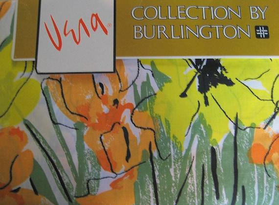 "Vintage Vera ""Tulip Time""  Bed Sheet  In Original Package (Queen Flat)"