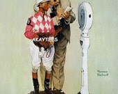 Norman Rockwell WEIGHING IN 1968 Jockey Saturday Evening Post Print