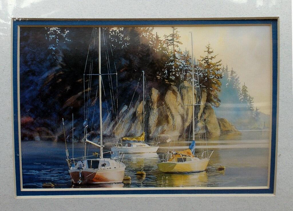 Sailboat Prints Kiff Holland Watercolor Double Mat By Akaytees