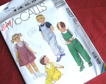 Easy McCall's Jumper and Jumpsuit, Size 1:  Uncut