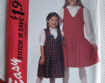 McCall's 7220 Jumper and Blouse, Sizes 3,4,5,6:  Uncut