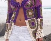 Hippie Long Sweater crocheted (Jackie-only special order)