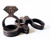 "Walnut ""Diamond"" Ring"