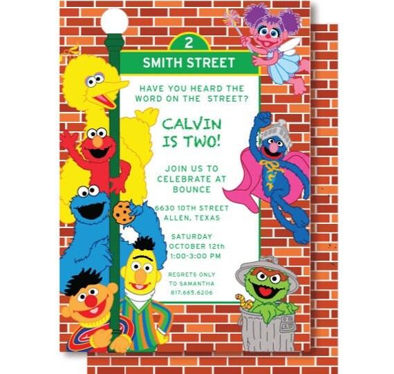 Sesame Street Birthday Invitation as best invitations sample