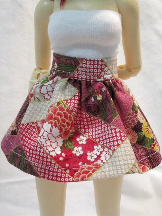 MNF Mini Skirt - Pink Kimono